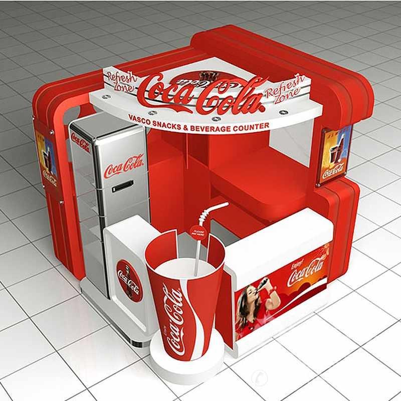 可口可乐饮料吧台展示柜图片
