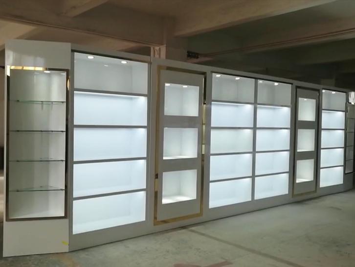 白色烤漆包包皮具展示柜