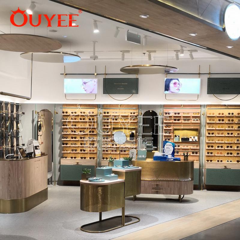 新款创意眼镜展示柜  时尚木纹眼镜展示柜 工厂批发定制展示柜
